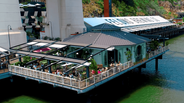Commercial Awnings retractable roof system brisbane