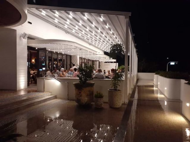 patio motorised retractable roof system awnings brisbane