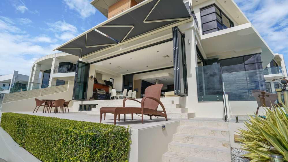 retractable folding arm awning gold coast
