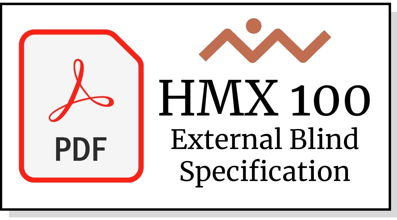 HMX 100 External Blind