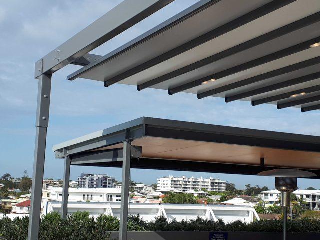 Motorised-Waterproof-Retractable-Louvre-Roof-System-Terrace-Pergola-LED-Lighting-Rooftop-Bar-Brisbane