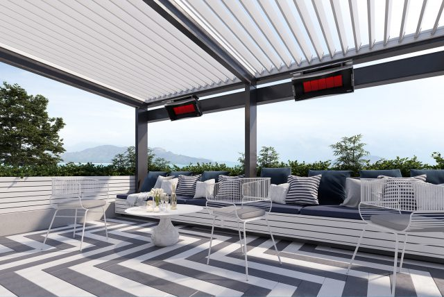 outdoor heating for awnings