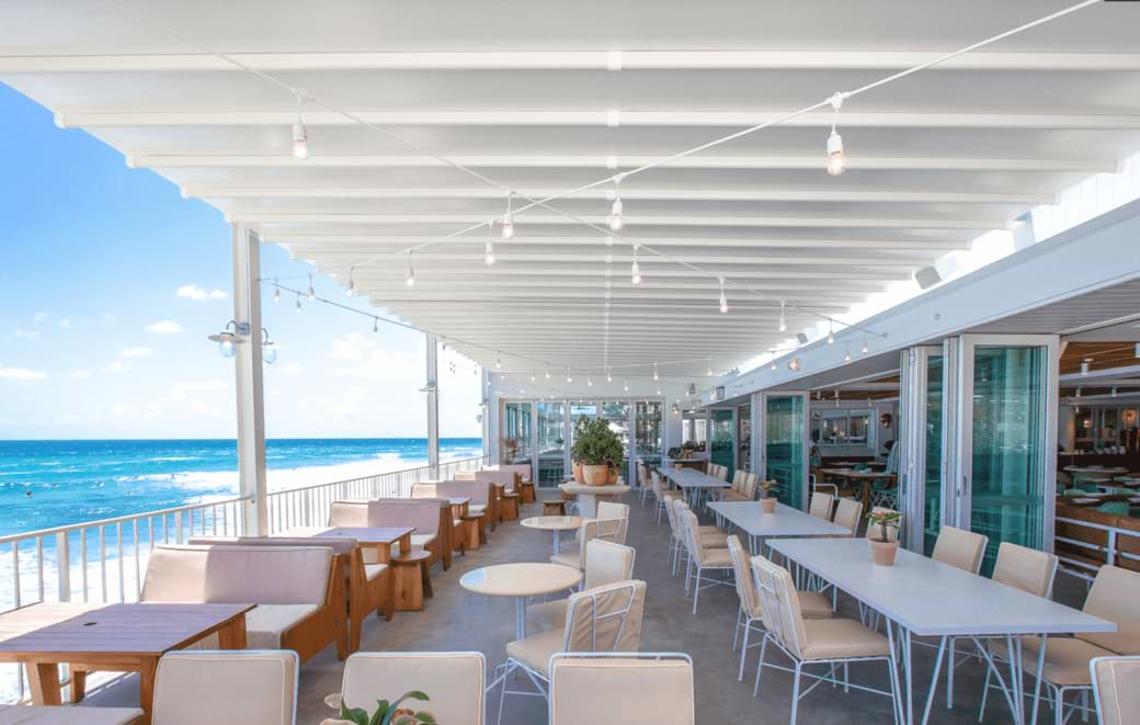burleigh beach pavilion retractable roof awnings